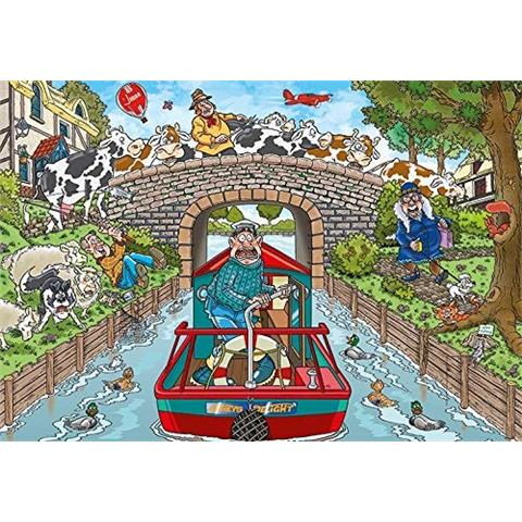 Wasgij Original 33 - Calm on the Canal Jigsaw Puzzle ...