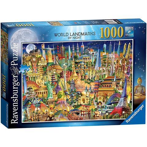 World Landmarks at Night Jigsaw Puzzle ( 1000 Pieces )